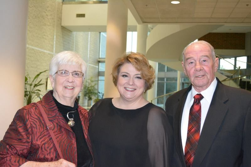 Elizabeth (Betsy) Bishop with her parents. — at GCS Hall of Fame Dinner.