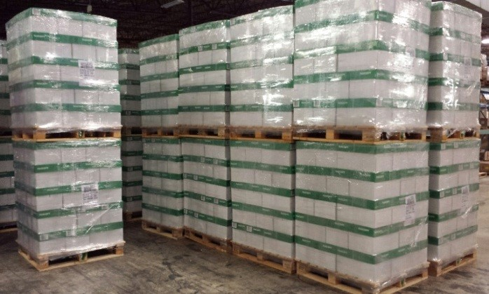 Pallets loaded with supplies