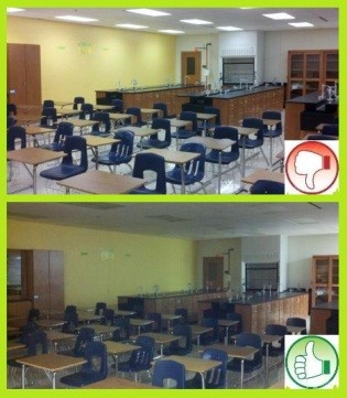 Turn off classroom and office lights anytime the area will be unoccupied for more than 5 minutes.