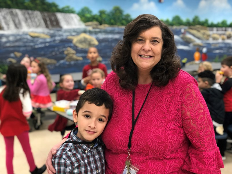 Plain Elementary second grade teacher Tina Hamilton and Darian
