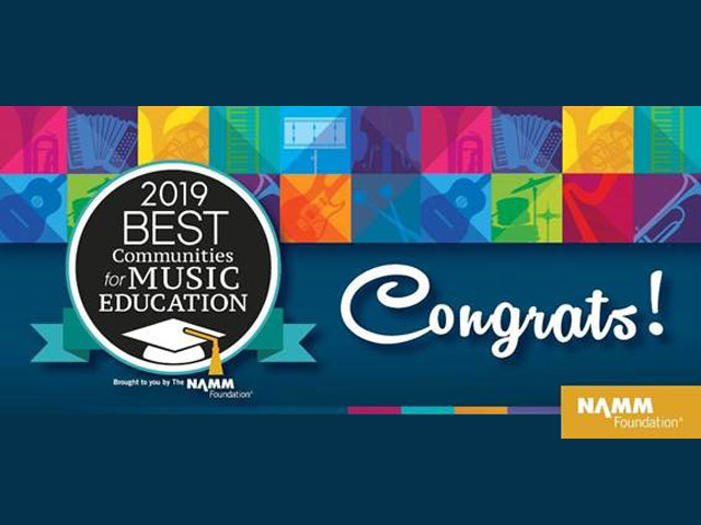 For the fourth year, Greenville County Schools has been honored with the Best Communities for Music Education