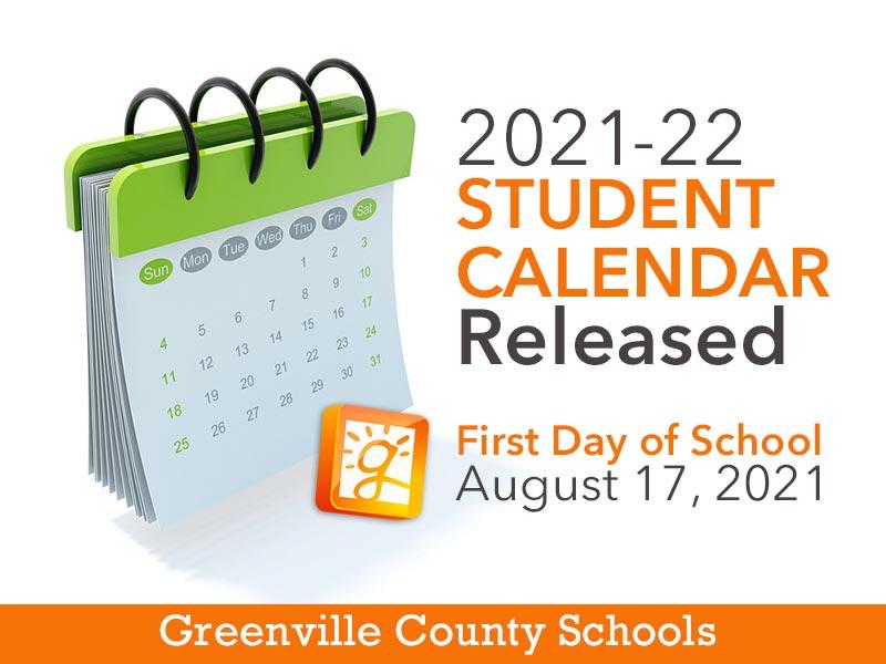 Greenville County Schools Calendar 2022.Gcs Releases 2021 22 Calendar