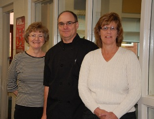 Jennifer Sharp, FANS Coordinator; Ron Jones, A.J. Whittenberg Elementary Chef; Eileen Staples, Director of Food and Nutrition Services - click to enlarge.