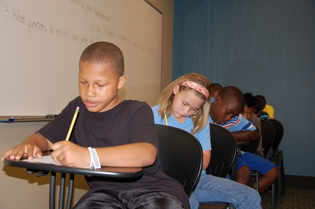 During Summer Camp, students were tested to determine their math skills.
