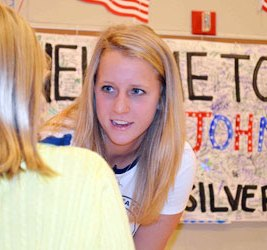 Abby Johnston, Silver Medal Olympian, Meets and Greets at Riverside Middle