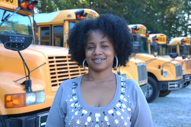 """The rewards of being a bus driver are the thanks you get from the parents, students, and administrators.""<br />--Giovonni Dodd, GCS Bus Driver"