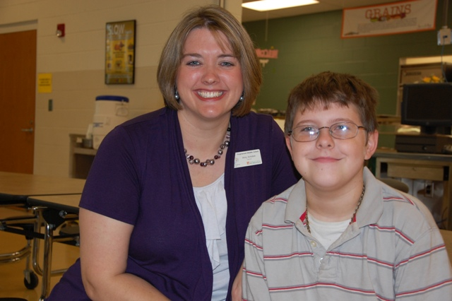 Tanglewood Middle School sixth grade teacher Amy Amidon rescued Alex Smith from choking on a hotdog during lunch.