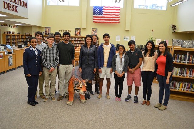 Southside High Academy students with Governor Nikki Haley.