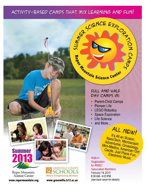 Summer Science Exploration Registration Opens at Roper Mountain Science Center - Click to enlarge.