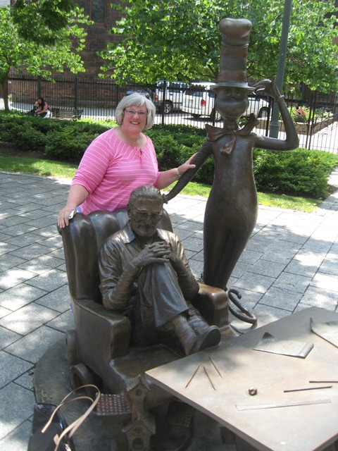 Mary had a chance to visit the Dr. Seuss memorial sculpture garden.