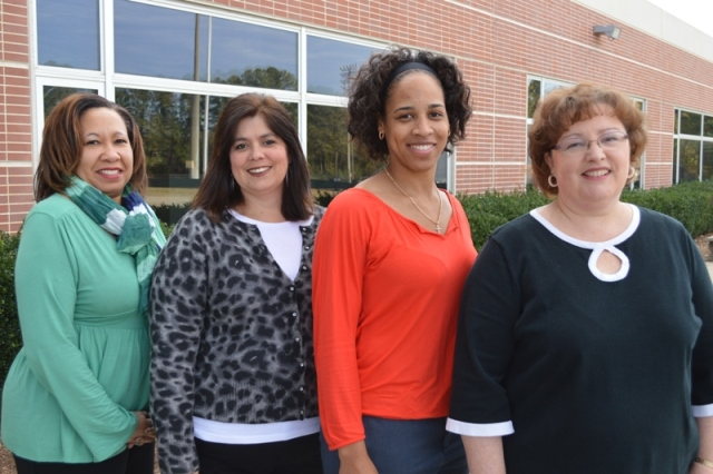 Rebecca Pridgeon, Krystal Scott, Lisa Gist, and Gina Owenby – Front Office Staff Carolina High School and Academy