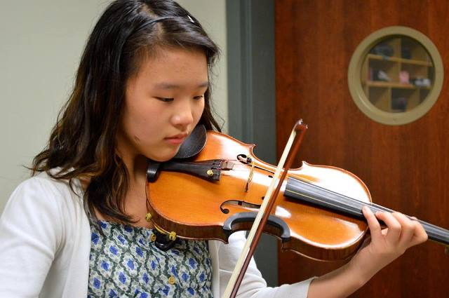 Katherine Woo, a sophomore at the Fine Arts Center and Riverside High, recently received first place in the 2013 Hilton Head Symphony Youth Concerto competition.
