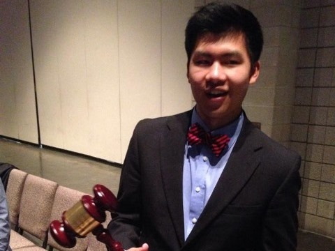 Kerry Yan was 18th in Congressional Debate in the House