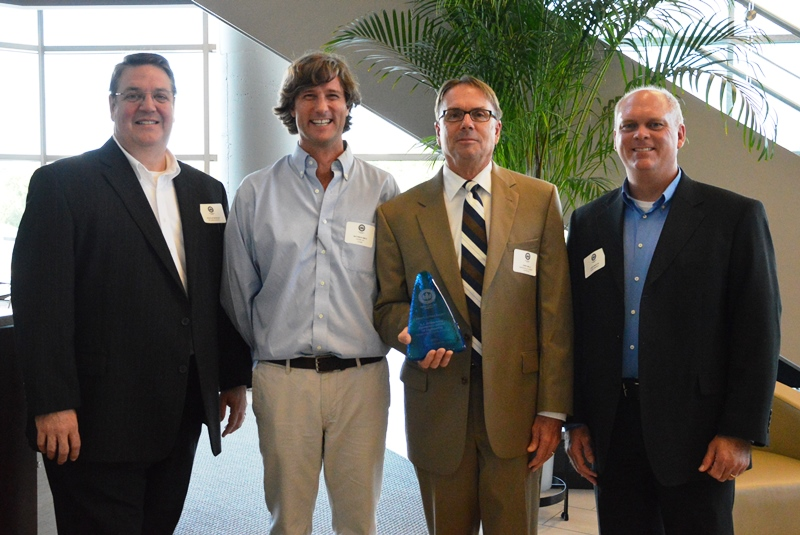 L to R: Douglas Rackley and Bachman Smith IV, USGBC-SC; Terry Mills, GCS Executive Director for Construction Management; Jason Martin, Duke Energy.