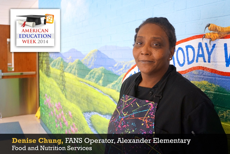 Denise Chung, Food Service Operator, Alexander Elementary