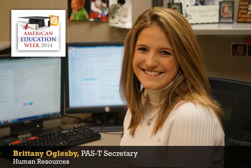 Brittany Oglesby, PAS-T Secretary, Human Resources