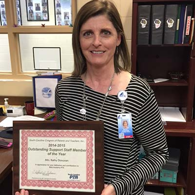 Kathy Donovan, Beck Middle Academy - Outstanding Middle School Support Staff of the Year