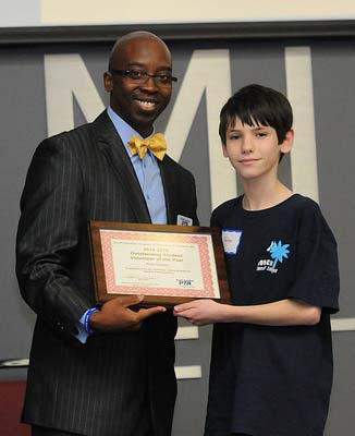 Peter Gaspich, Monarch Elementary – Outstanding Student Volunteer of the Year