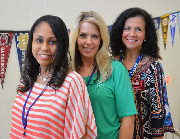 The Sevier Middle School counseling program offers group counseling and guidance sessions throughout the year. Pictured, Counselors Tomiko Long, Darcy Storm, and Jami Crisman.
