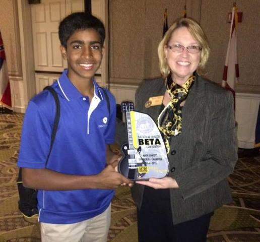 First Place in the Nation in Math at the National Junior Beta Club Convention