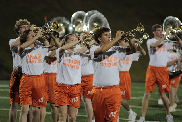Marching band horn section