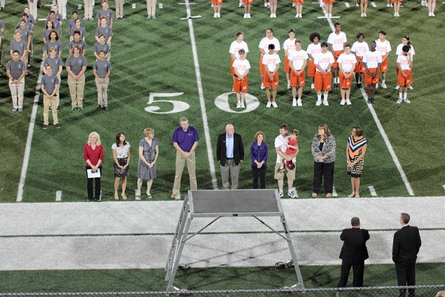 School Board Honored By Marching Bands