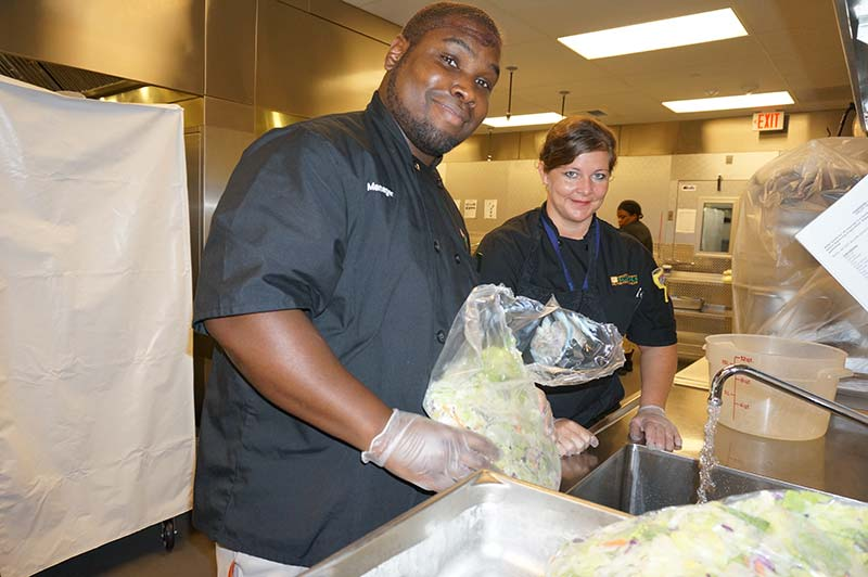 Monarch Food Service Manager Joe Holmes said Amanda has been a huge asset to the food service crew.