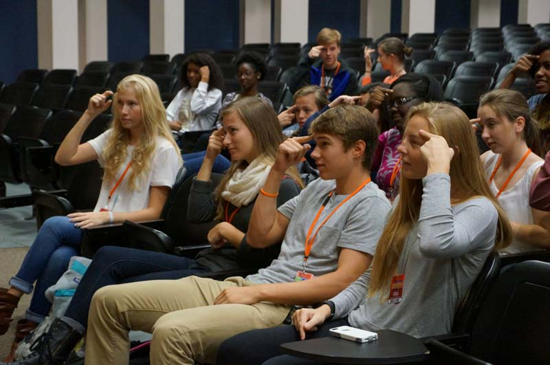 About 50 students are members of Mauldin High's sign language club.