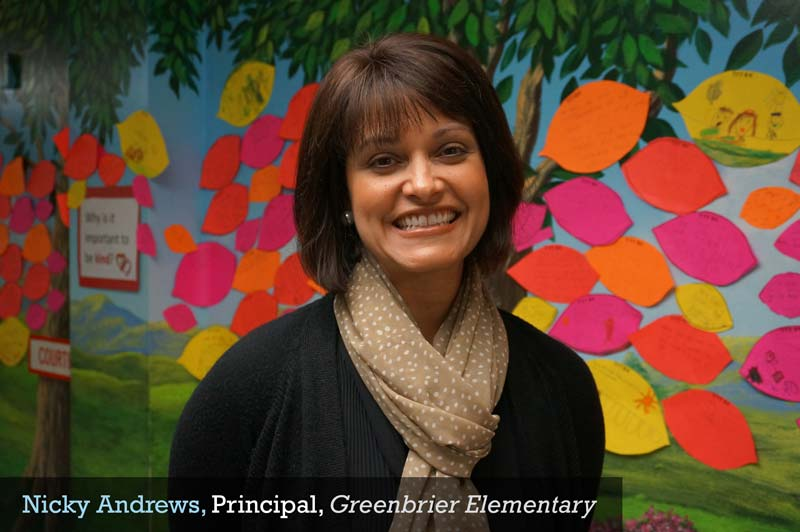 Nicky Andrews, Principal, Greenbrier Elementary