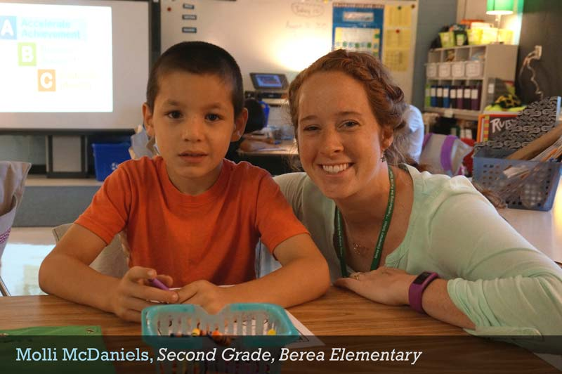 Molli McDaniels, Second Grade Teacher, Berea Elementary