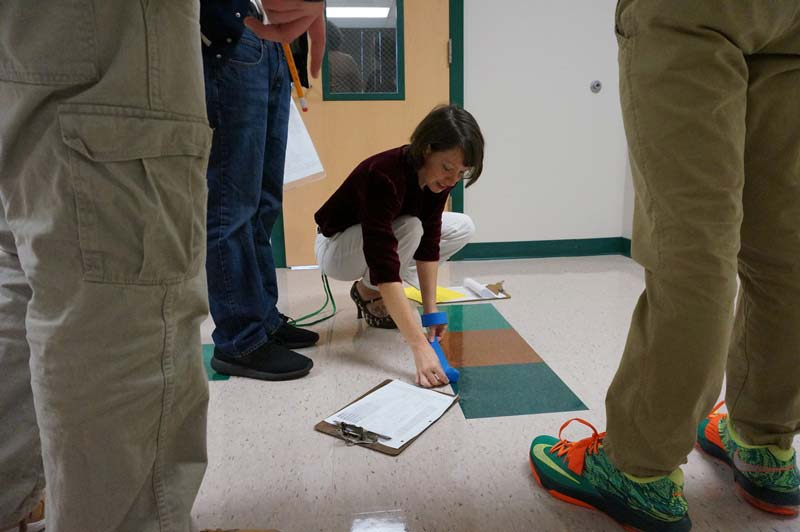 Although her class size on this particular day was small – only three students – Berkley gave them an interactive and hands-on assignment to map out the formation of the Earth.