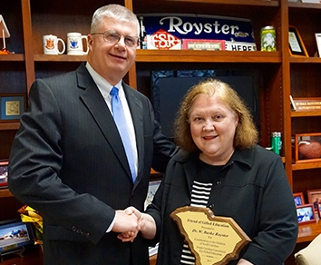 Superintendent Receives Friend of Gifted Education Award