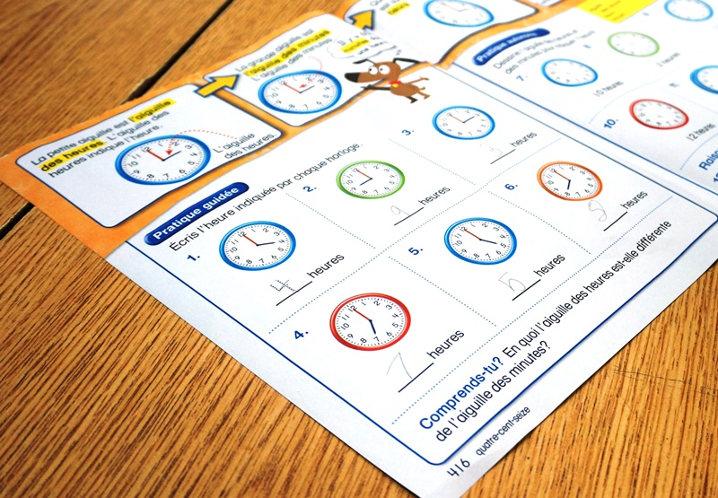 worksheets with clock lesson/assessment