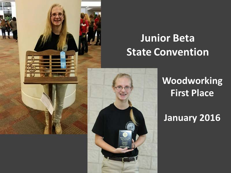 Woodworking First Place – Elizabeth McMinn