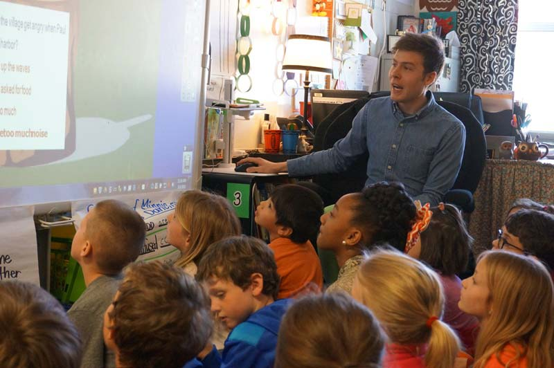 The National Board for Professional Teaching Standards has selected a video portfolio submitted by Oakview Elementary Second Grade Teacher Jake Gambrell for inclusion in its online resource library.