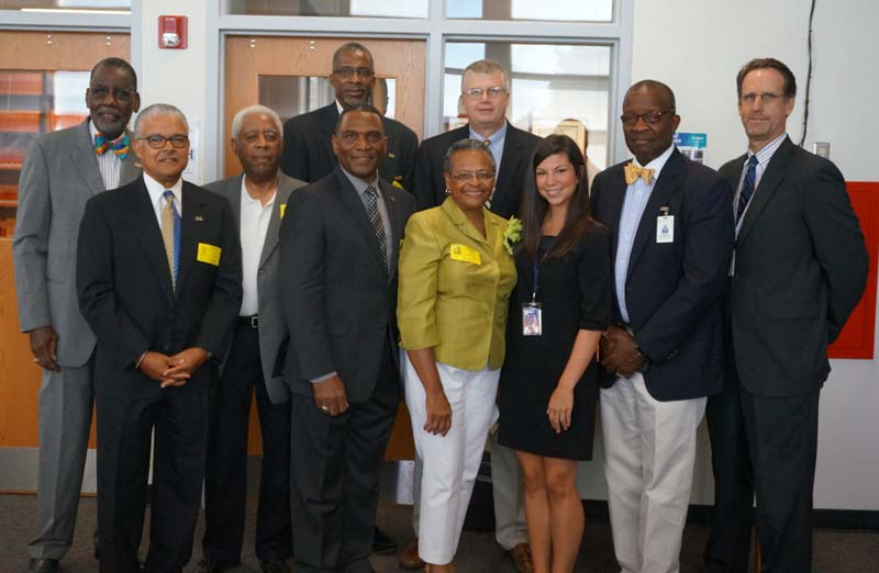 Left to right: James Gray, Lennie Beamon, Joe Long, George Singleton, Gregory Stephens, Dr. Burke Royster, Glenda Morrison-Fair, Leah Platt, Kenneth Baxter, and Michael Delaney.
