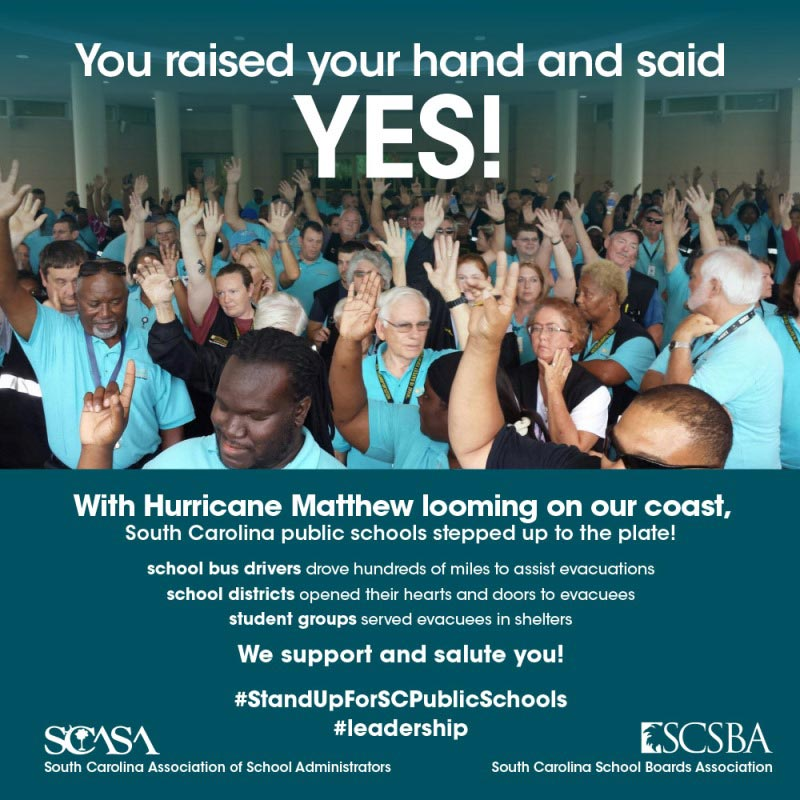 The South Carolina School Board's Association is using a photo of Greenville County Schools Bus Drivers as part of statewide campaign.