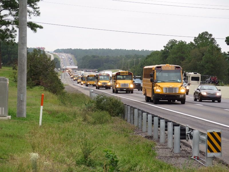GCS buses on I-26 near Orangeburg