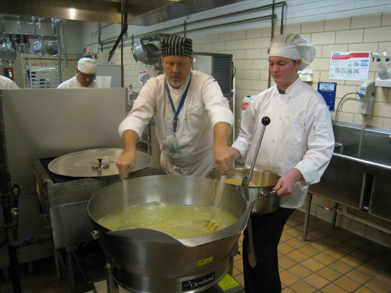 Bonds Career Center culinary students prepare casseroles for Greer Community Ministries' Big Thursday event.  Photo 5