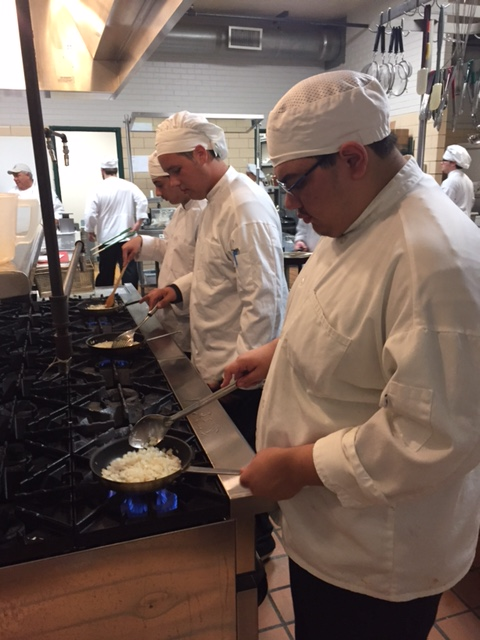 Bonds Career Center culinary students prepare casseroles for Greer Community Ministries' Big Thursday event.  PHoto 6