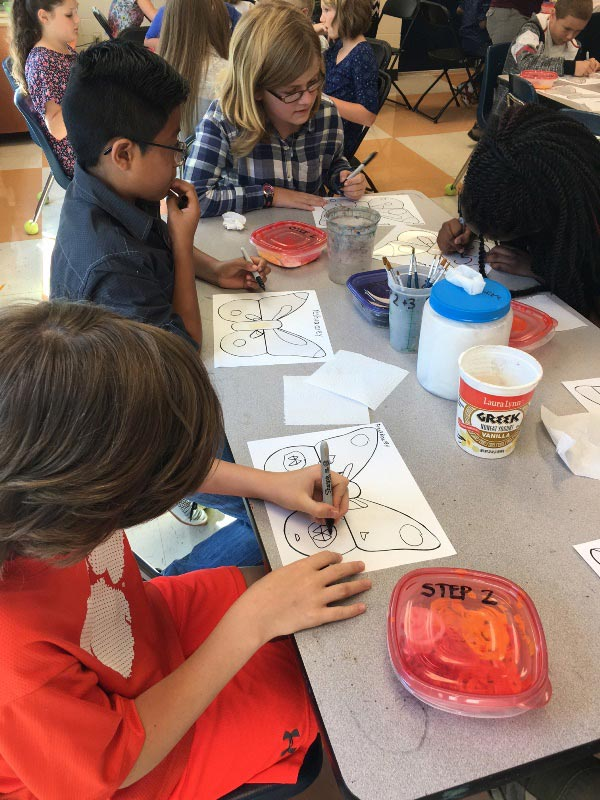 Fifth graders in Carrie Haye's art class at Summit Drive Elementary learned about Monarch butterflies while participating in a statewide student art project called the S.C. Butterfly Collaborative, presented by the S.C. Governor's School for the Arts and Humanities (SCGSAH).