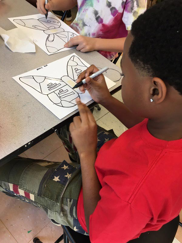 Summit Drive Elementary Students Participate in Statewide Art Project