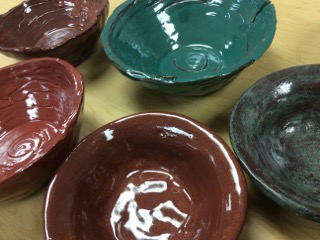 Specially-made artist bowls will be available for sale