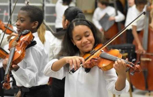 League Academy String Students