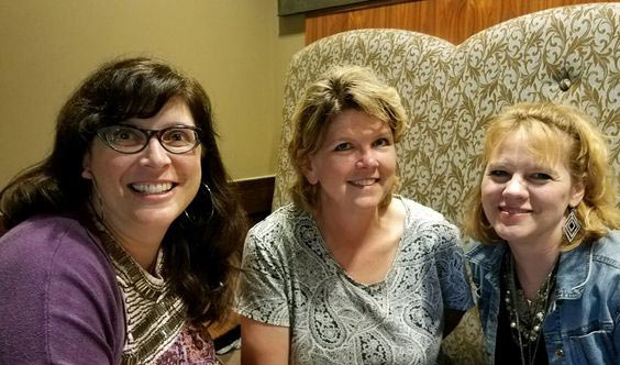 L to R: Art Teachers Meredith Hamby (Woodmont Middle), Tammie Nimmons (Hillcrest Middle), and Judy Harrington (Fisher Middle)