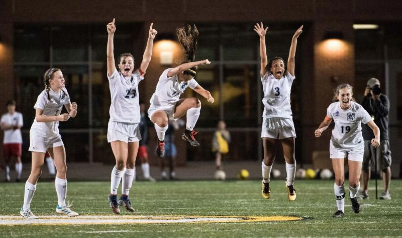2017 Class AAAAA Girls State Soccer Champions react to goal