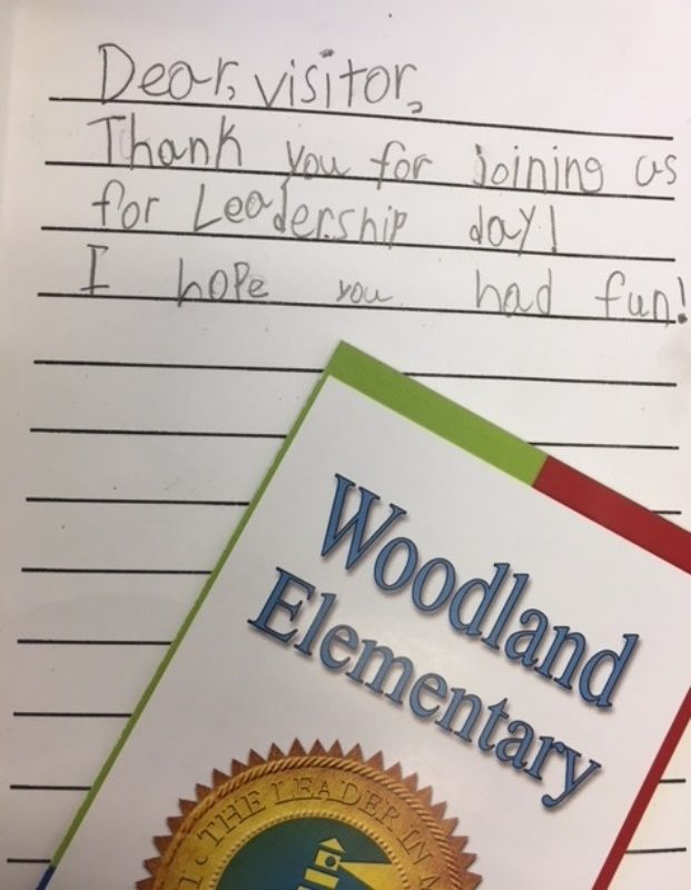 Thank you note from students to visitors