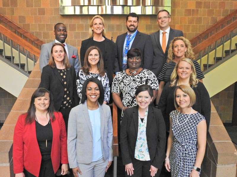 Left to right, from the top row: Cory Terry, Jennifer Couch, Mark Loach, Adam Massey, Darah Huffman, Karen Greene, Yolanda Crittendon-Jones, Beth Farmer, April Roberts, Karon Dailey, Charlotte Sauls, Leah Stafford, and Caroline Bohnenberger