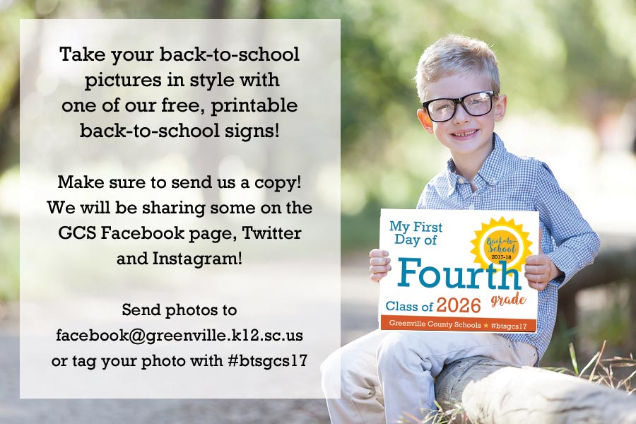 Take your back-to-school pictures in style with one of our free, downloadable back-to-school signs!