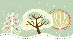 Trees in snow clipart